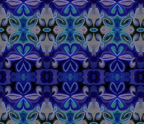 Double Lotus fabric by stephaniecolecreations on Spoonflower - custom fabric