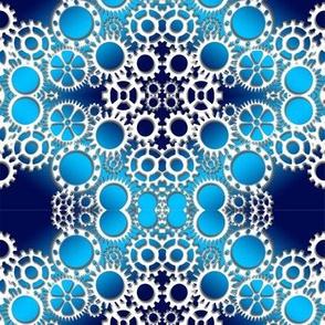 gears in blue