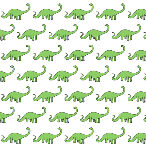 Happy Diplodocus fabric by cecca on Spoonflower - custom fabric
