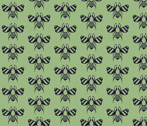 Hive  Five  Me! fabric by sewindigo on Spoonflower - custom fabric