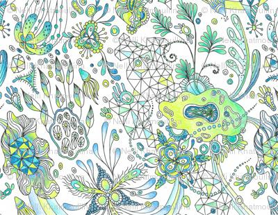 Botanical Triagulation Colored