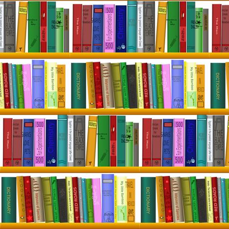 book shelf fabric by stofftoy on Spoonflower - custom fabric