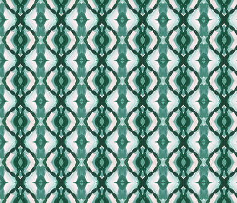 Watercolor Green Tile 1 fabric by mjmstudio on Spoonflower - custom fabric