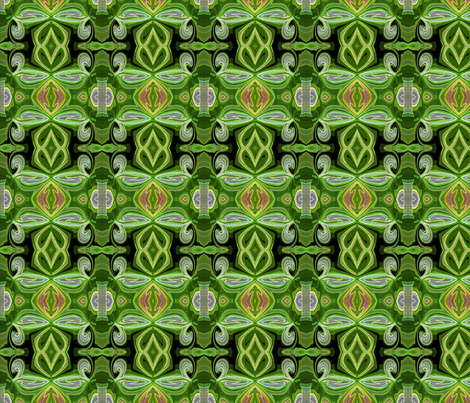 Green Medley fabric by stephaniecolecreations on Spoonflower - custom fabric