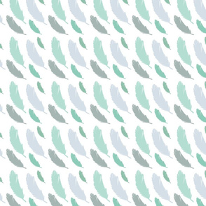 Soft Mint Feathers