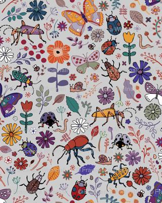 Butterflies, beetles & blooms - grey