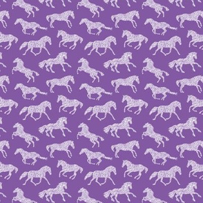 "1"" Pen Sketch Horses // Purple"