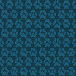 MBC Paw Print Blue