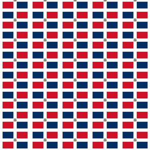 "Dominican Republic flag small - 3"" x 2"""
