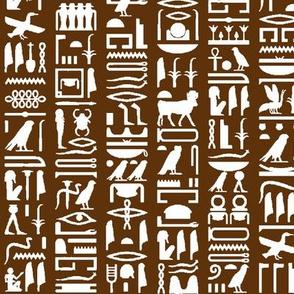 Egyptian Hieroglyphics on Brown // Small