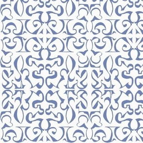 ARABESQUE French Blue on White