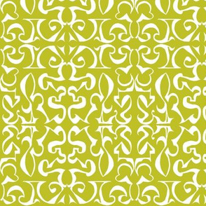ARABESQUE Chartreuse and White