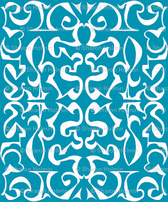 ARABESQUE Blue and White