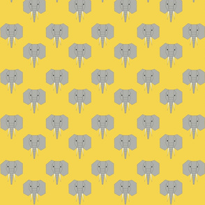 Geometric Elephants on Yellow