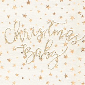 Gold Sparkle Christmas Baby Blanket