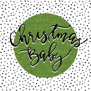 Christmas Baby Lovey // Moss Linen