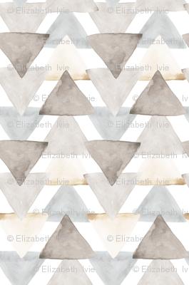 Neutral Watercolor Triangle // small