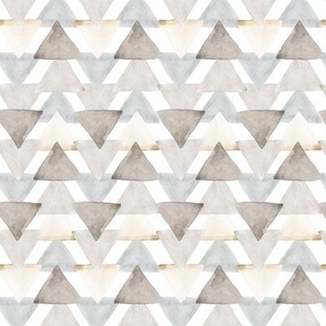 Neutral Watercolor Triangle // small