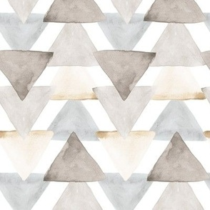 Neutral Watercolor Triangles