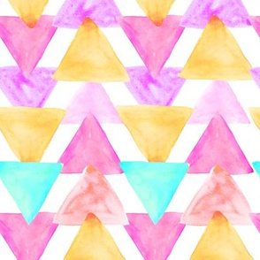 Berry Watercolor Triangles