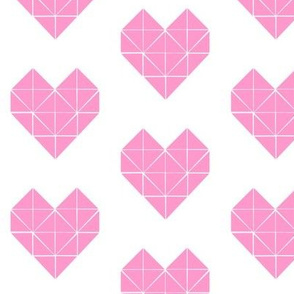 Geometric Heart in Pink