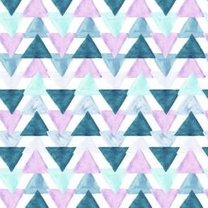 lavender watercolor triangles // small