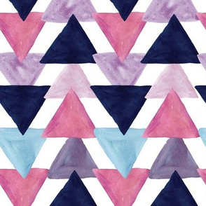 blue lagoon watercolor triangles
