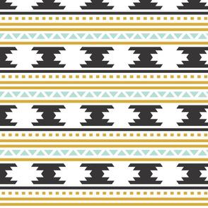 Black Aztec Stripe // Small