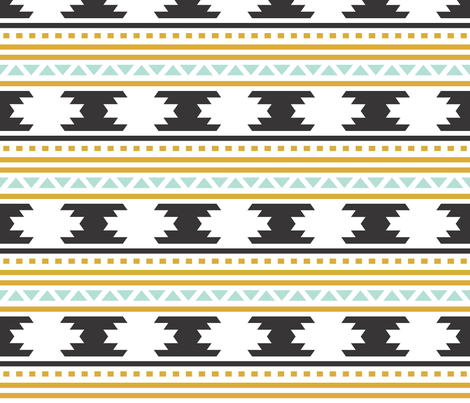 Black Aztec Stripe fabric by ivieclothco on Spoonflower - custom fabric