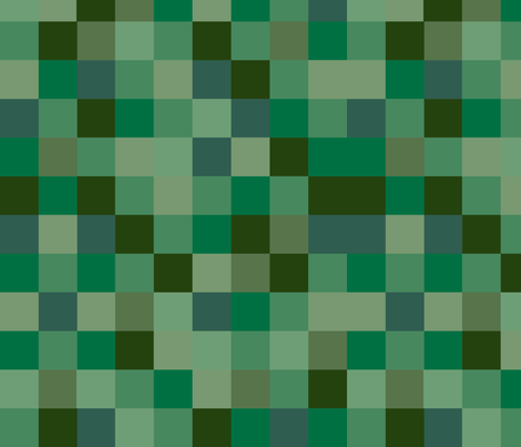 Deeply Green Pixel Fabric fabric by lightningandlace on Spoonflower - custom fabric