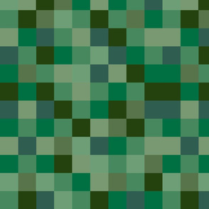 Deeply Green Pixel Fabric