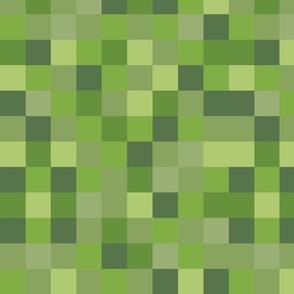 Long Onion Green Pixel Fabric