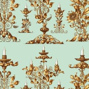 candelabrum candelabra candlesticks holder candles golden gilded flowers floral fruits petals vines victorian art nouveau baroque rococo neoclassical elegant gothic lolita egl  shabby chic romantic