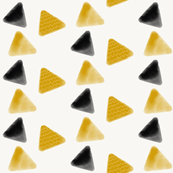 Triangles watercolor - black and mustard, gold, geometric, modern || by sunny afternoon