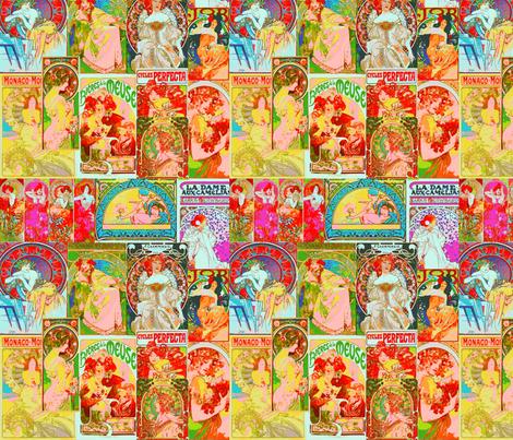 Mucha Ads fabric by artland95 on Spoonflower - custom fabric
