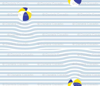 beach ball breton stripe ripples