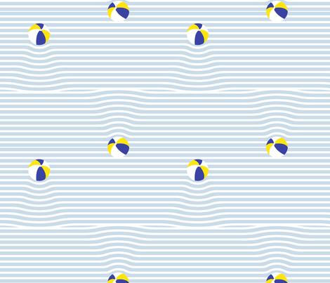beach ball breton stripe ripples fabric by booboo_collective on Spoonflower - custom fabric