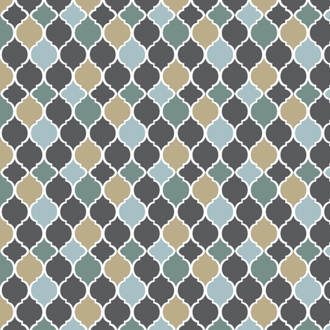 Moroccan Tiles Winter fabric by janinez on Spoonflower - custom fabric