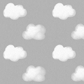 Clouds - watercolor white and grey gender neutral || by sunny afternoon