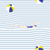 poolside breton stripe