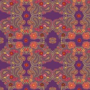 purple flower aum