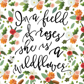 "Wildflower Blanket // Petals and Pine // 54"""