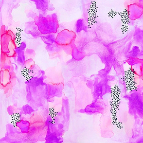 hand-painted watercolor abstract // orchid + pink // small