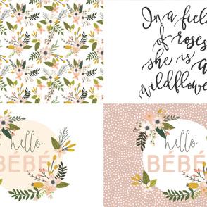 Fat Quarter Bundle // Blush Sprigs and Blooms, Wildflower, Hello Bébé