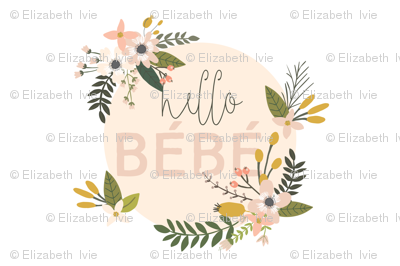 Blush Sprigs and Blooms Bébé Lovey // White