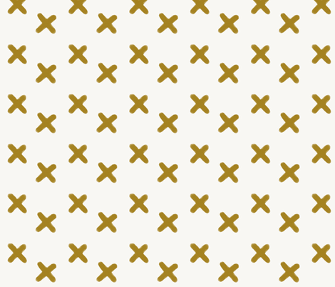 watercolor crosses - mustard || by sunny afternoon fabric by sunny_afternoon on Spoonflower - custom fabric