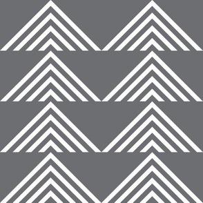 triangles geometric on charcoal