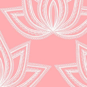 Decorative Lotus Flower on Pink