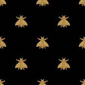 Napoleonic Bees ~  Gilt on Blackest Black