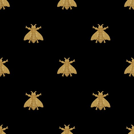 Rnapoleonic_bees___gilt_on_black___peaocoquette_designs___copyright_2016_shop_preview